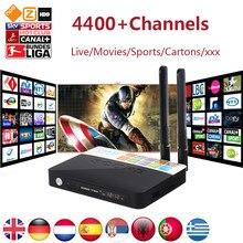 CSA93 Android 7.0 4 K TV Box Avec 4700 + Monde PRO Arabe Israël nordique USA Brésil Inde Europe IPTV Smart Set top Box 3G 32G