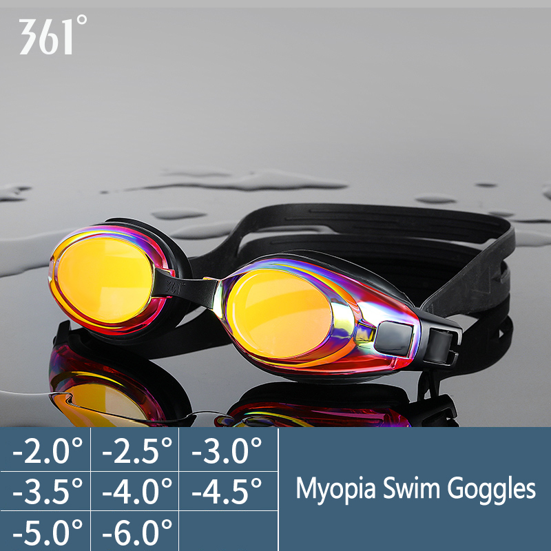 Swim-Eyewear Myopia-Glasses Pool Anti-Fog Professional Waterproof Silicone 361 Unisex
