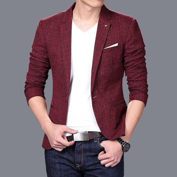 f73f4ac1c US $32.0 |Men Long sleeve Suit jacket jaqueta masculina Men Cool Trendy  slim fit Blazers Korean style casual tuxedo blazer masculino 72205-in  Blazers ...