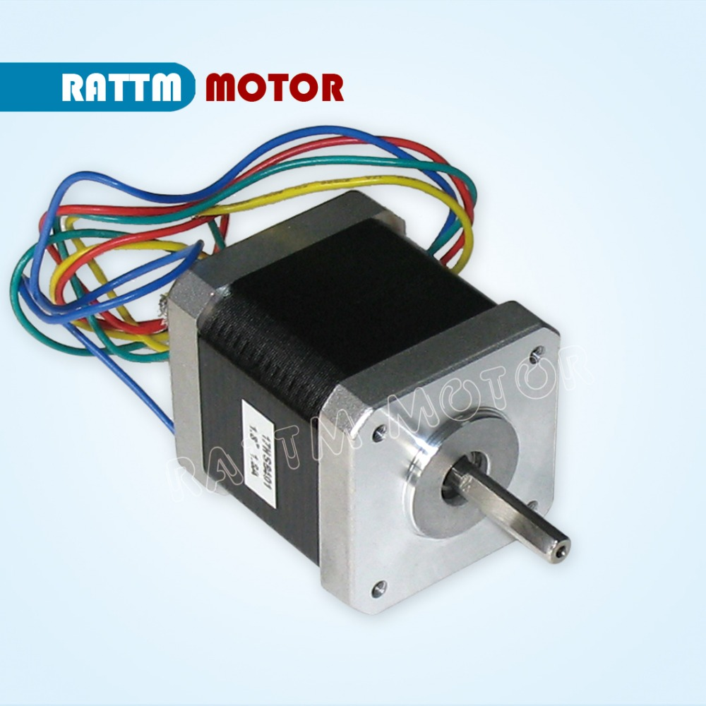 Nema17 stepper motor 0.9 deg /1.8A / 48mm/ 78 Oz-in CNC stepper motor stepping motor for 3D print CNC Routers from RATTM MOTOR rus ship quality dual shaft nema34 154mm 1600 oz in 5 0a cnc stepper motor stepping motor for cnc machine from rattm motor