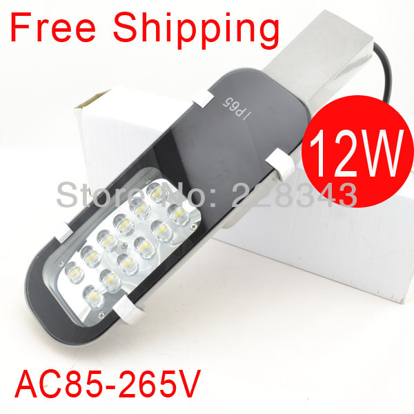Free shipping sale AC85 265V12W led street light IP65 Epistar 1200 1300LM LED led street light