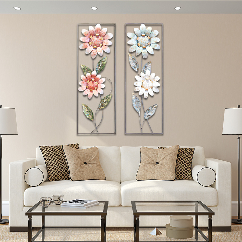 Flower Iron Cage Wall Hanging Mural Home Crafts Decor 3D Stereo Office House Background Wall Sticker Decoration R1203 - 3