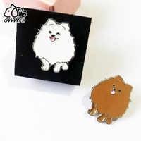 Broches de perro Pomeranian para mujer, hombre y niña, broche de aleación de metal para perro de color plateado y mascota, pines, joyería para ropa de fiesta