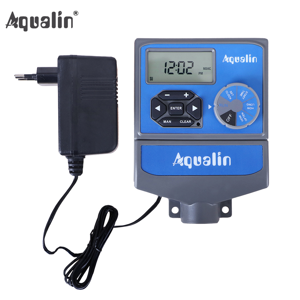 8 Stations Garden Automatic Irrigation Controller Water Timer Watering System with EU standard Internal Transformer 10468