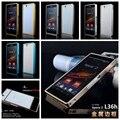 Para sony Z Moda de Luxo estilo Puxar saco do telefone caixa de Proteção caso Metal frame Bumper Para SONY Xperia Z L36h C6603 C6602