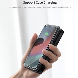 Image 2 - Baseus 10000mah Power Bank Drahtlose Ladegerät Schnelle Lade für iPhone Samsung Huawei Xiaomi Dual USB Lade Externe Batterie Pack