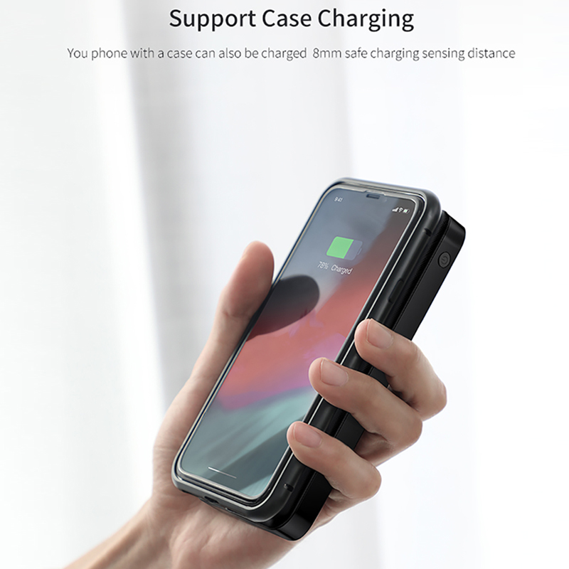 Image 2 - Baseus 10000mah Power Bank Wireless Charger Fast Charging for iPhone Samsung Xiaomi Huawei Dual USB Charge External Battery Pack-in Power Bank from Cellphones & Telecommunications