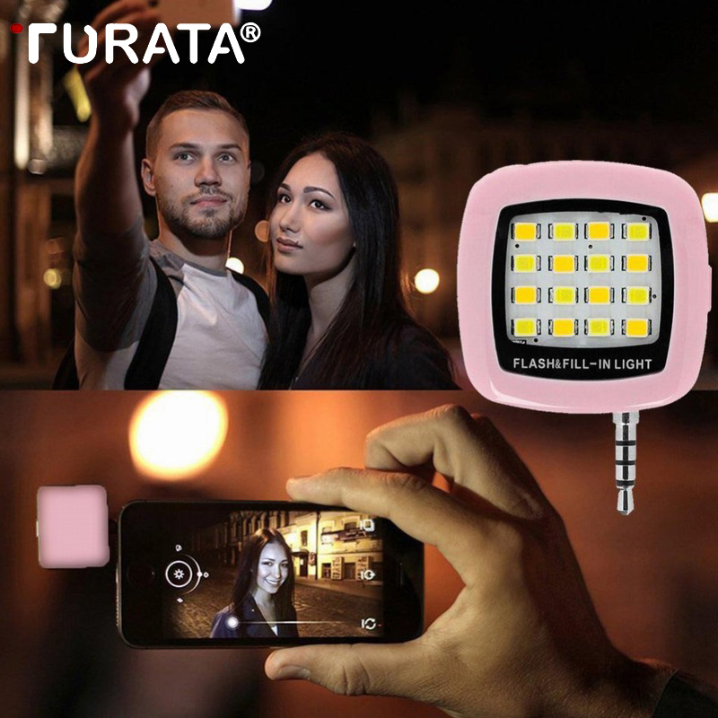TURATA Портативный Мини светодиодный Selfie Flash заполнить свет мобильного телефона Кам ...