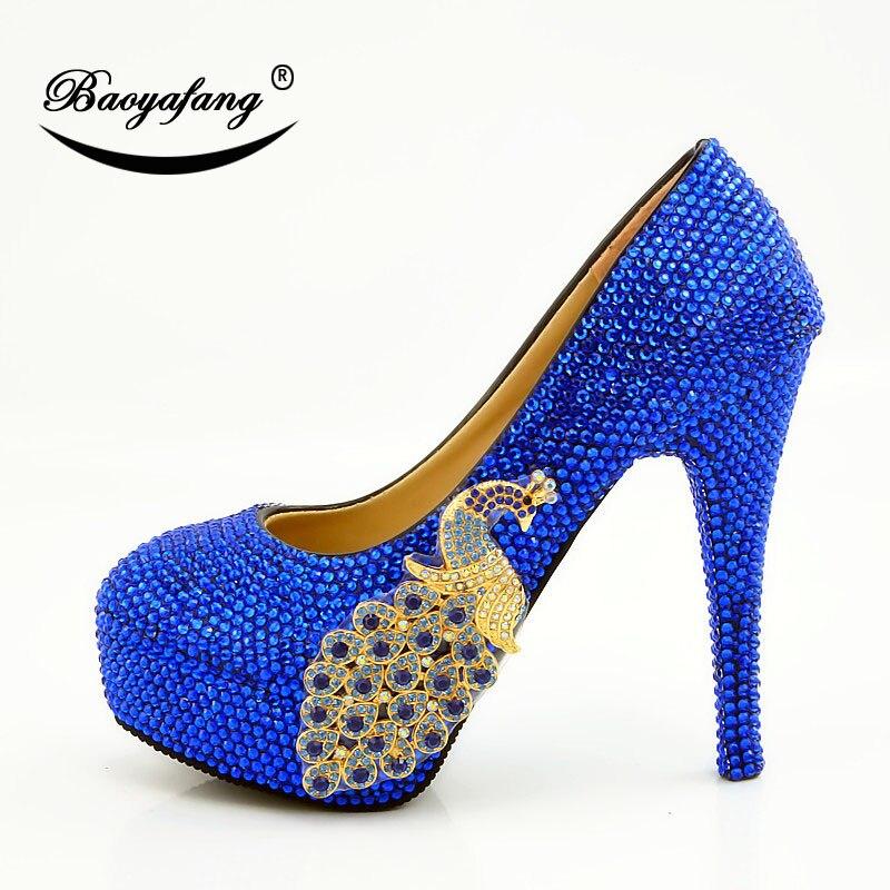 Femme 2019 Cristal D'honneur 14cm Heel Demoiselle Parti Phoenix Heel 8cm Diamant Heel Chaussures Mariage Bleu Femmes Dyess Mariée De 11cm 1rBOw1q