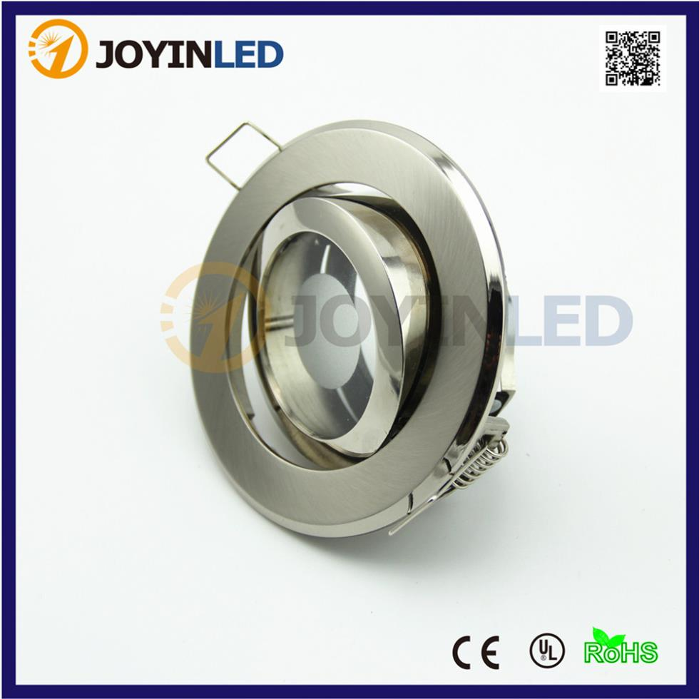 Free ship 6pcs recessed font b LED b font Ceiling lamp holder spotlight fixture gu10 mr16