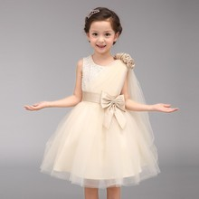 Flower Girl Dress 2017 Princess For Wedding Elegant Sleeveless Ball Gown Communion Kids Prom Gowns Party Dresses