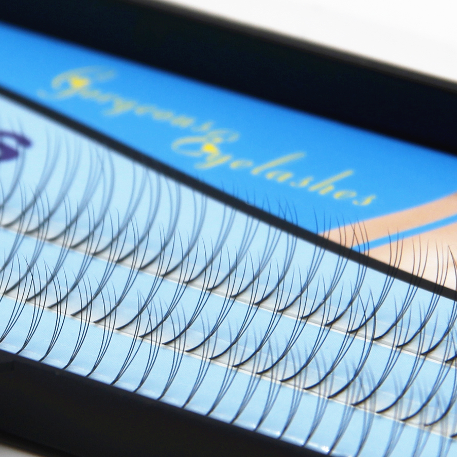 Navina 8mm/10mm/12mm Natural Soft False Eyelash Extension 3D lashes W lash Deluxe Lashes VOLUME Fake Eyelashes 10 trays volume lash 2d long stem soft eyelash false 100% silk individual lashes volume lashes can mark size lash free shipping
