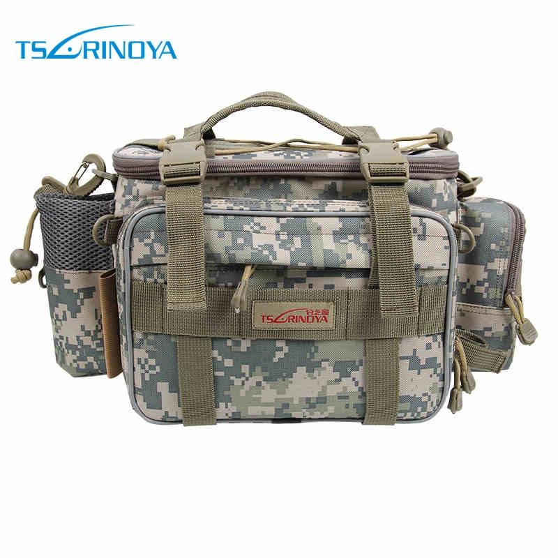Trulinoya Multifunctional bag lure waist pack fishing bag outdoor nylon waist pack bag fishing tackle 3 color Y7 waist bag