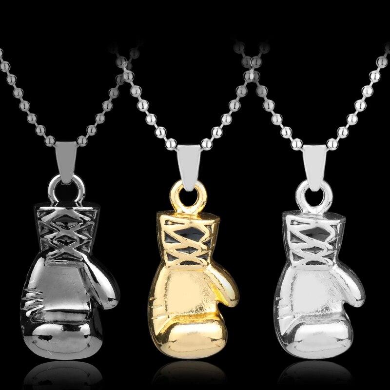 dongsheng Fashion Necklace Mini Boxing Glove Necklace Manly Boxing Match Jewelry Jewelry Sliver Beads Chain Choker Necklace-30