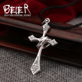 BEIER New Arrival 925 Sterling silver ring man Cross Pendants 100% solid sliver ring men jewelry BR925A021