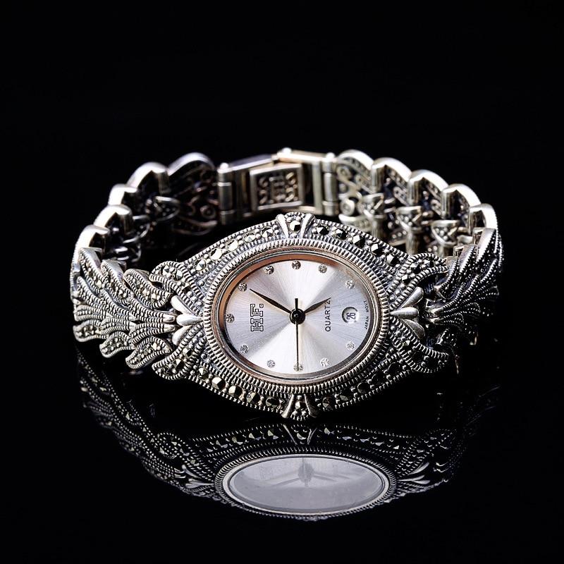 все цены на Thai silver wholesale S925 sterling silver jewelry business lady Thailand Bracelet Watch