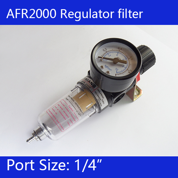 Free shipping Pneumatic Air Source Treatment Filter Regulator w Pressure Gauge AFR2000  цены