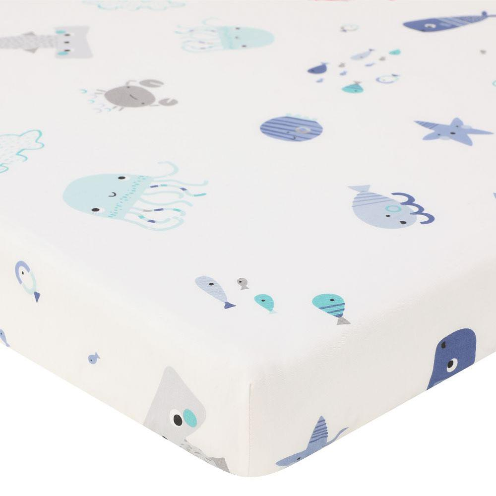 Cotton Crib Fitted Sheet Soft Breathable Baby Bed Mattress Cover Cartoon Newborn Bedding For Cot