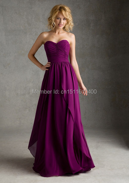 Ciruela, uva púrpura, sin tirantes, drapeado, una línea de, encuadre ...