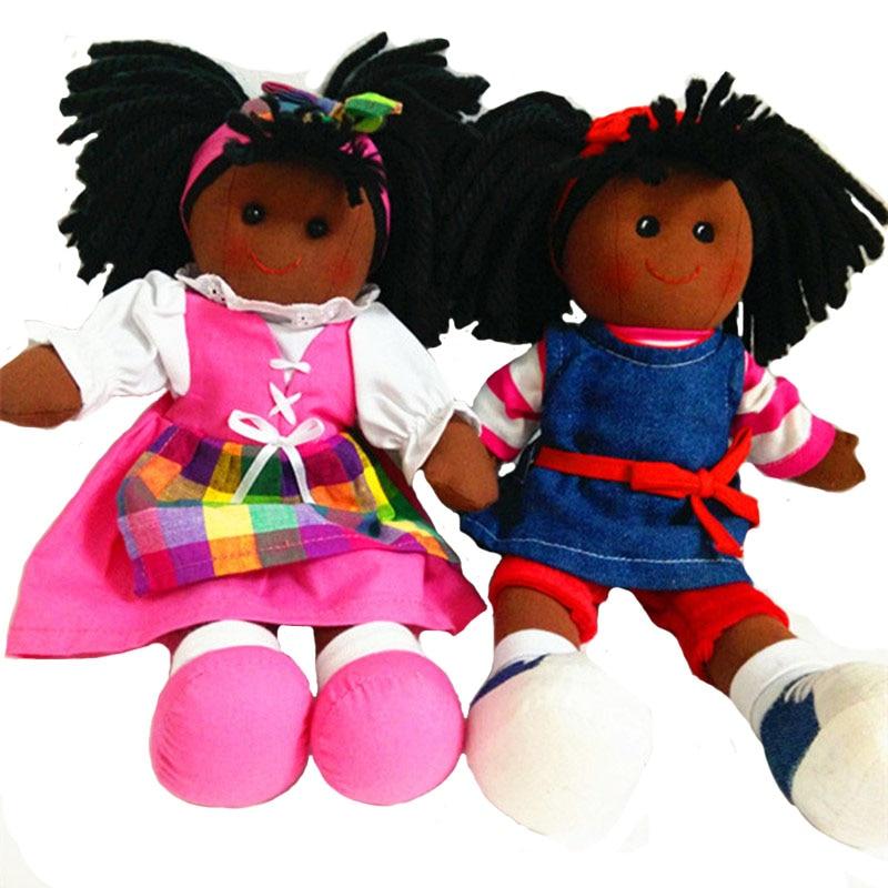 Boneka anak-anak boneka mainan untuk bayi perempuan 12 inch dengan wajah coklat boneka anak-anak, Bayi lahir hadiah, Mudah diambil dari mesin dicuci