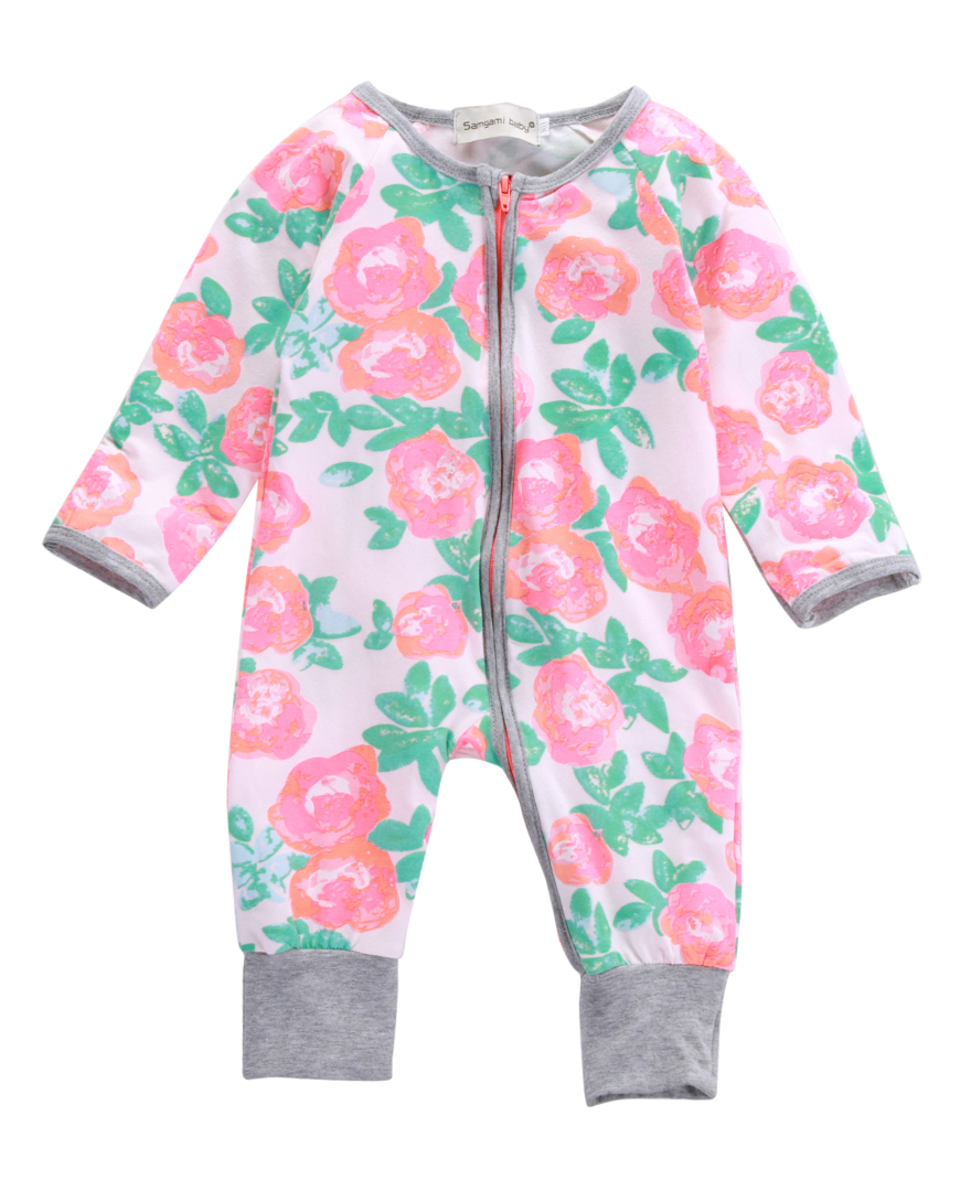 Baby Boy Girl Romper Newborn Infant Baby Warm Long Sleeve Cotton Zipper Floral Romper Winter Jumpsuit  Baby Girl Clothes 0-18M newborn baby boy winter rompers long sleeve cotton clothing toddler baby clothes romper warm cartoon jumpsuit baby boys pajamas