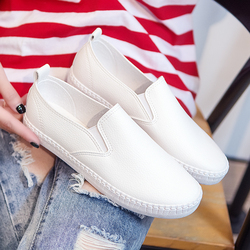 Shoes Woman Flats Summer Autumn New Fashion Women Shoes Casual Flats Solid Breathable Simple Women Casual White Shoes Sneakers 3