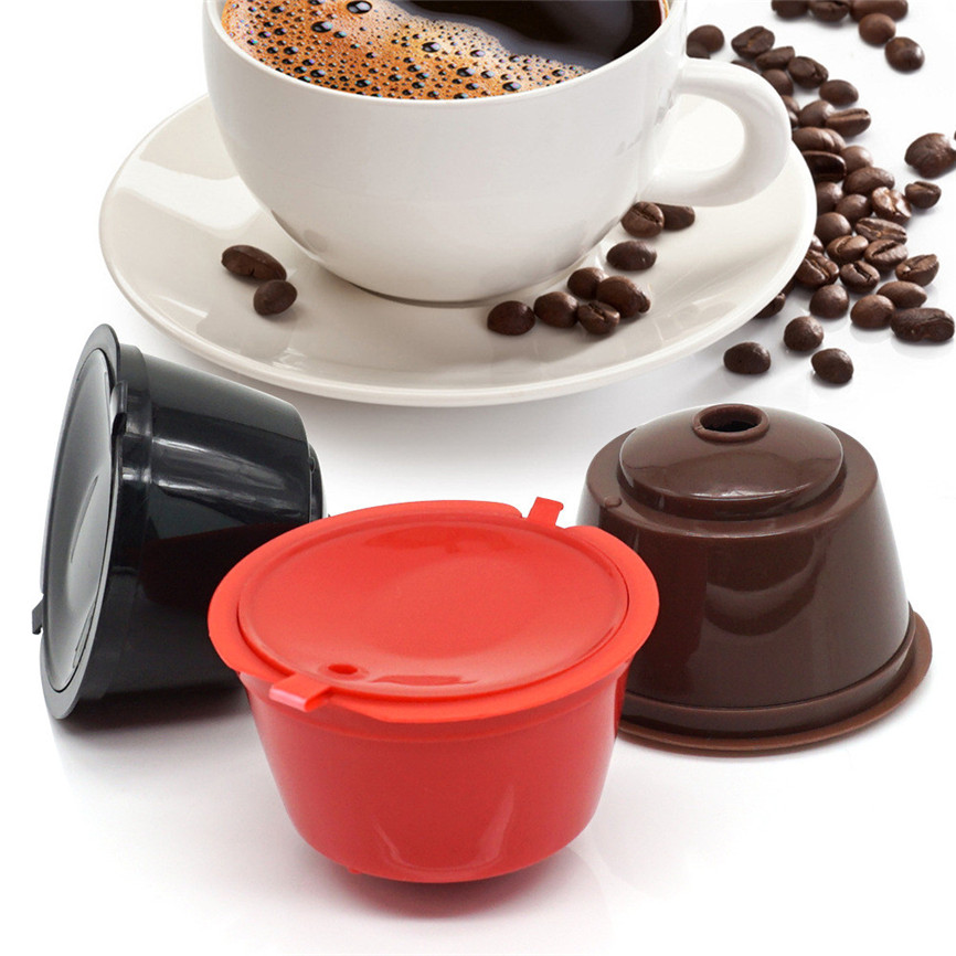 3pcs/Set Refillable Dolce Gusto Coffee Capsule Nescafe Dolce Gusto Reusable Capsule Gusto Capsules Dolce Gusto Refill 3 Colors