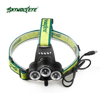 SKYWOLFEYE T6 LED Headlamp Headlight 1000Lm Rechargeable Zoomable Outdoor Flashights 18650 Battery Fishing Cycling Bicycle Light