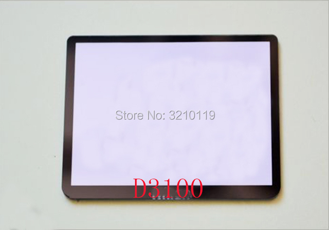 מסך LCD חדש תצוגת חלון (אקריליק) + קלטת מגן מסך חיצוני זכוכית למצלמת D3100 של ניקון