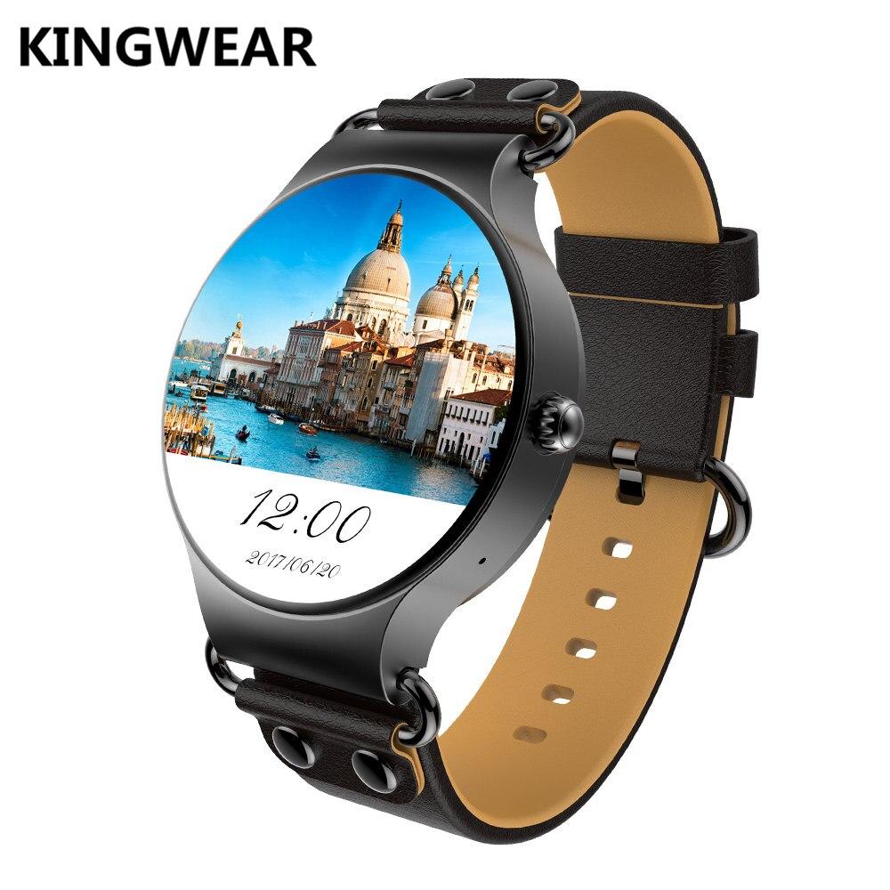 все цены на Original KingWear KW98 Smartwatch WIFI GPS Wristwatch Phone Android 5.1 MTK6580 Quad Core 1.39 inch Heart Rate Monitor Pedometer онлайн