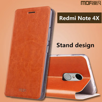 Xiaomi Redmi Note 4X Case Flip Cover MOFi Original Redmi Note 4x Pro Prime Case Cover