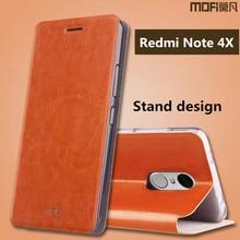 Xiaomi Редми примечание 4x чехол MOFi оригинал примечание 4x pro флип кожаный чехол назад саппу xiaomi редми примечание 4x силиконовый чехол 5.5″