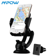 Mpow Dashboard Car Mount Adjustable Windshield Holder Cradle with Universal Air Vent Stand 360 Degree Rotation Phone