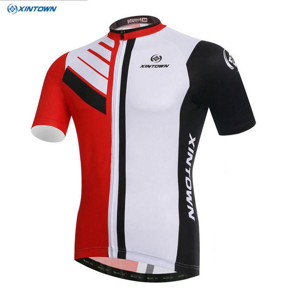 Xintown Ciclismo bicicleta Bicicletas ropa equipo mujeres hombres Jersey chaqueta Ciclismo superior Bicicletas bicicleta rojo/Blanco/ negro