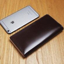 LANSPACE Men's crup leather wallet multi holder handmade purse brand wallet