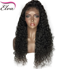 Elva Hair Water Wave Lace Front Wigs Pre Plucked Hairline 100% Human Hair Wigs With Baby Hair Brazilian Remy Hair Natural Color