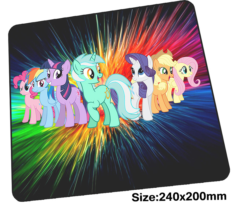 My Little Pony Mouse Pad Gamer 240x200mm  Notbook Mouse Mat HD Print Gaming Mousepad High Quality Pad Mouse PC Desk Padmouse