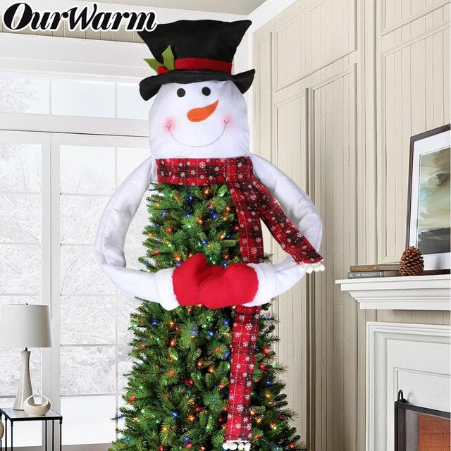 2018 Newest Big Size Snowman Christmas Tree Toppers Xmas Christmas