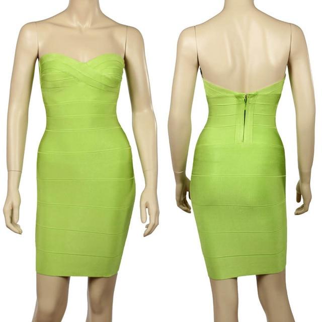 Kim Kardashian Strapless Sexy Women Rayon Bodycon Dress 4