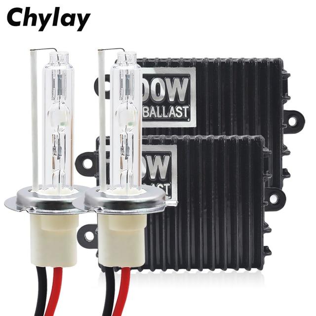 100W H7 Xenon H1 H4 H3 H11 9005 HB3 9006 HB4 HID Kit For Car Headlight 4300K 5000K 6000K 8000K High Power HID Ballast Xenon Bulb