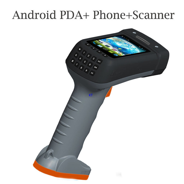 portable handheld terminal with pistol grip 1d 2d barcode scanner reader data collector screen. Black Bedroom Furniture Sets. Home Design Ideas