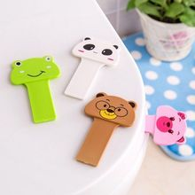 1pc Cartoon Toilet Lid Knob Toilet Lid Lifting Device Sitting Commode Bathroom Accessories Toilet Handle Portable Sanitation