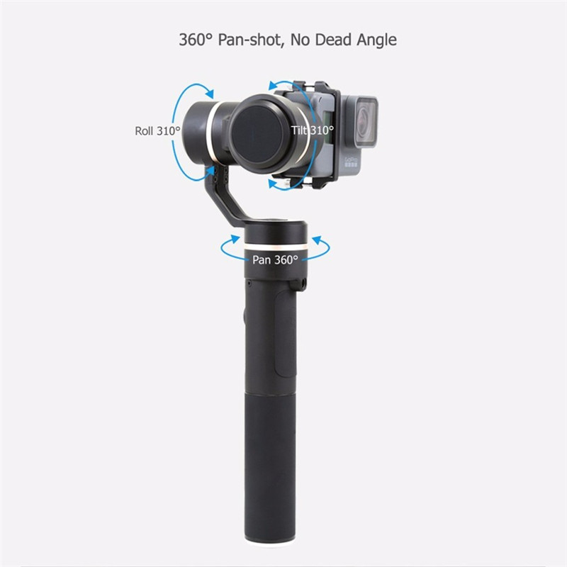 2018New Arrival Feiyu Tech G5 Waterproof 3 Axis Handheld Brushless Gimbal For GoPro 5 Multi Action Camera With USB Cable Battery free shipping feiyu tech g4 gs gimbal 3 axis brushless gimbal for sony hdr az1vr fdr x1000v as series sport auction camera