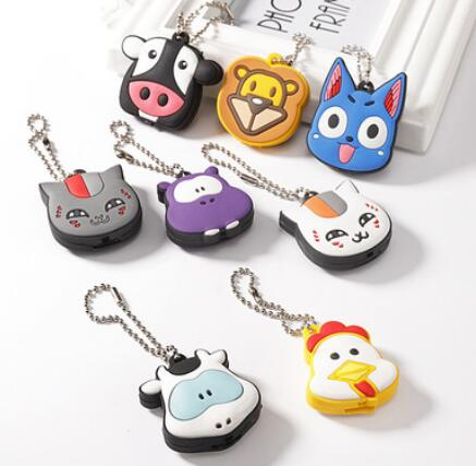 New Arrival PVC Cute Pet Cat Dog Hippo Chicken Lion Key Cover Cap Rubber  Pug Animal Led Key Chain Key Ring Men Women Unisex-in Key Chains from  Jewelry ... e74cb5db52