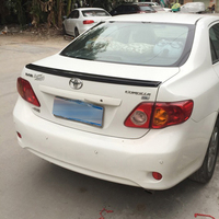 For Toyota Corolla Spoiler 2008 2013 Car Tail Wing Decoration ABS Plastic Unpainted Primer Rear Trunk Spoiler
