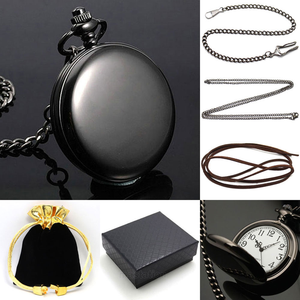2016 New Arrival Relogio De Bolso Gift Set Fashion Simple Smooth Quartz Pocket Watch Casual Fob Clock With Necklace Unisex Xmas 2016 new fashion pocket watch unisex necklace clock watch y102596