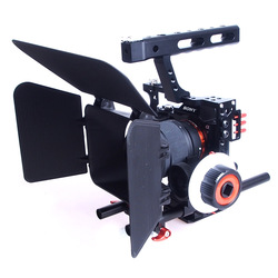 Aluminum Alloy Handheld Camera Video Support Kit DSLR Cage Set with Follow Focus Matte Box For Canon Nikon Sony DSLR Cameras