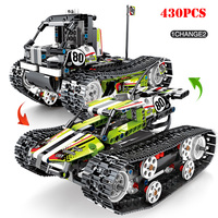 Technic RC City Tracked Vehicles Building Blocks Compatible Legoing Electric Power Off road Track Motor Vehicle Bricks Child Toy