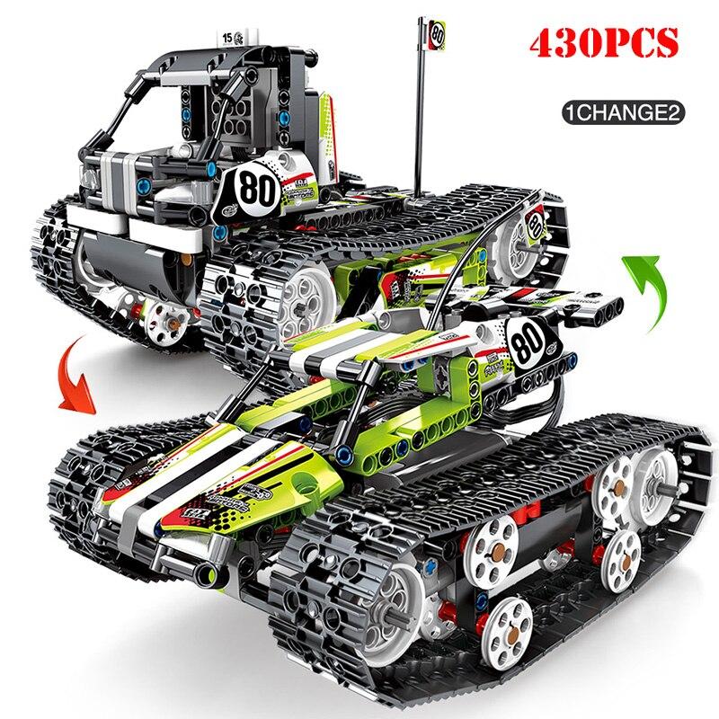 Technic RC ville véhicules sur chenilles blocs de construction Compatible Legoing électrique hors route piste véhicule à moteur briques enfant jouet