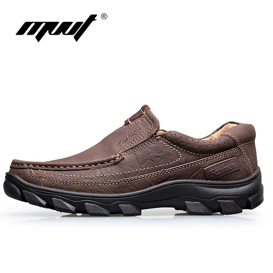 2017 Brand Genuine leather mens shoes comfort soft leather casual shoes men flats Top quality classics men leather shoes